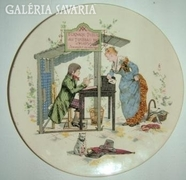 Antik SARREGUEMINES jelzett fali tányér