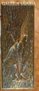 Madár a nádasban - vörösréz falikép
