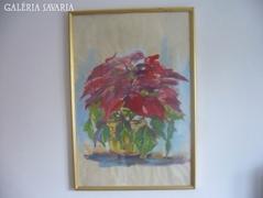 Lubomyr Mudretzkyi- Viirág csendélet,kerettel 64 X 44 cm