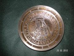 , Szent  Ágnes  , szép  fém emléktárgy ,átm 80 mm