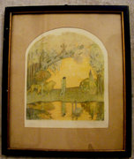 Abel Pann 30x24 cm litográfia  A paradicsom