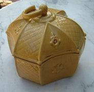 Antik kb. 100 éves majolika ékszerdoboz - bonbonier