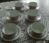 Alföldi 6 személyes teáscsésze készlet