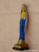 Antik Madonna szobor : gipsz Szűz Mária -kegytárgy