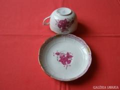 Herendi Apponyi teáscsésze + tányér