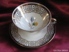 Bavaria winterling aranyozott teás csésze & alj