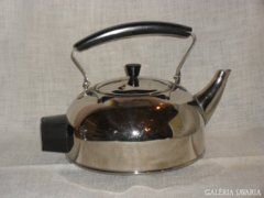 Krómozott réz teás kanna  ( DBZ0045 )
