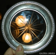 Crown Sterling ezüst csiszolt üveg antik kínáló tál
