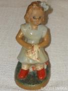 Varró kislány kerámia figura ( 012 )
