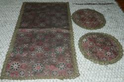 Antik brokát szett - futó + két kör terítő kollekció