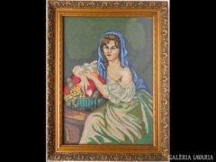 Y734 R1 Régi goblein fiatal lány