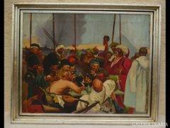 1008 R1 Ilya Repin : Kozákok válasza olaj vászon