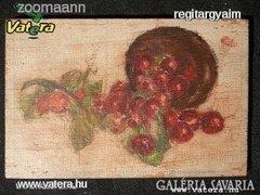AE36 T2 Régi gyümölcs csendélet farost lapon