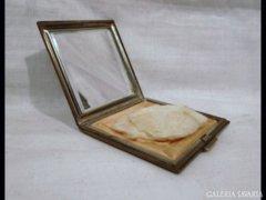 1541 G3 Antik púderes szelence ezüstözött