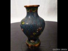 2207 G3 Antik tűzzománc kis méretű kínai váza