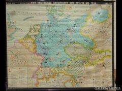 2518 R1 Antik német katonai térkép 1917-1939