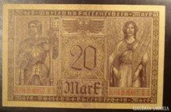 Német 20 Mark 1918  aUNC