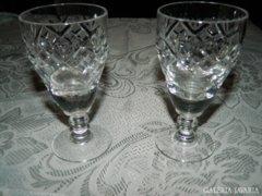 Kristály talpas pohár pár