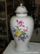 Meissen porcelán fedeles váza