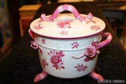 Herendi virágos ETON fedeles süteménytartó