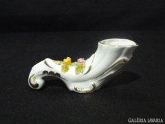 0770 Régi jelzett porcelán virágtartó váza