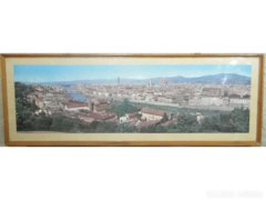 3600 Firenzei panorámakép Arno parti látkép