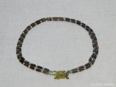 0906 Régi dupla soros filigránozott női nyaklánc