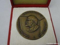 5920 Jelzett propaganda Lenin rézplakett 7 cm