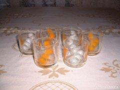 Retró likőrös pohár  6 db