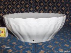 Hófehér porcelán tál, falitál - sérült