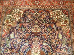 Antique! Value: 65 thousand euro! Silk Persian carpet