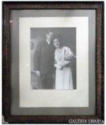 8264 Régi fekete fehér házassági fotográfia