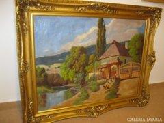 Szentmiklóssy M. Sándor festmény eladó (75x100) KERET NÉLKÜL