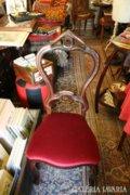 Nagyon szép bordó plüss szék