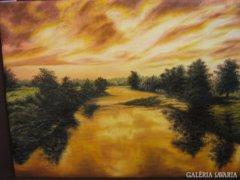 Olajfestmény: Sárga folyó