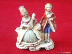 8649 Régi német barokk főúri porcelán miniatúra