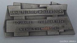 Fogolytábort Wöllersdorf 1934-74 jelvény