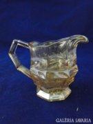 6374 Antik vastagfalú irizáló üveg kiöntő