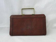 8100 Retro kígyóbőr mintás réz fogantyús női táska
