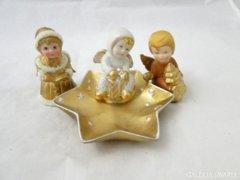 8960 Kerámia aranyozott angyal 3 darab
