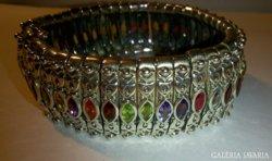 Nawaratna indiai kézműves ezüst karkötő -Extravagáns,ragyogó