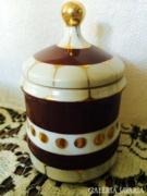 Különleges barna-arany festésű Hollóházi Bonbonier