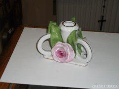 Herendi rózsás gyertyatartó