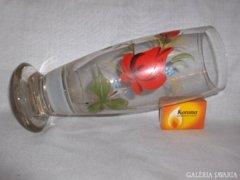 Rózsás nagy üveg pohár