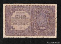 1000 Marek 1919 Lengyelország Ritka