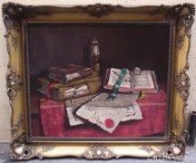 Szendy Arisztid (1903-1972): Csendélet könyvekkel