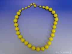0A550 Régi citromsárga bizsu gyöngysor nyaklánc