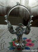 Muránói üveg súlyos  kosár asztalközép