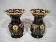 V533 Régi vásárhelyi kerámia váza párban