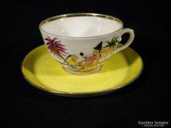 V305 Antik porcelán keleti teáscsésze 1900 körüli
